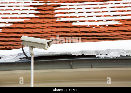 Security Camera On Roof Of Building Bournemouth Dorset