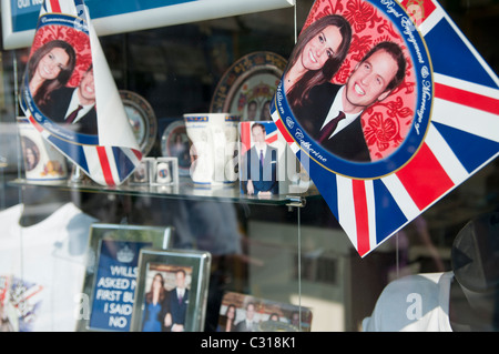 Royal Wedding souvenirs being sold in London, UK. - Stock Photo