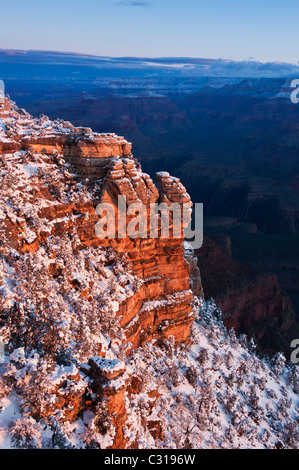 Sunrise view from Mather Point, Grand Canyon national park, Arizona, USA - Stock Photo
