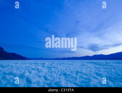 Badwater dry salt lake bed (salt flats) - Death Valley, California USA - Stock Photo