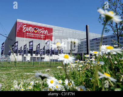 The Esprit Arena in Duesseldorf, home of the Eurovison Song Contest 2011. - Stock Photo