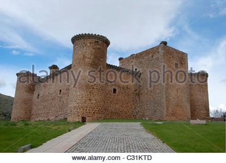 Castle of Valdecorneja. Barco de Avila, Avila. Spain. - Stock Photo