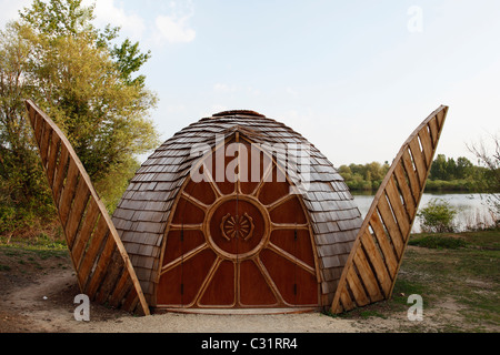 bird hide radley lakes radley oxfordshire uk stock photo bird hide radley lakes radley oxfordshire uk