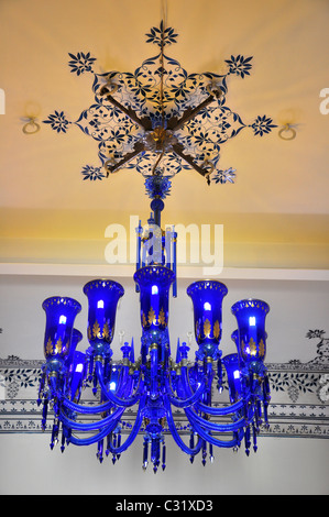 Chandelier at Royal Palace, Udaipur, India - Stock Photo