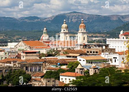 Cathedral Nuestra Señora de la Asuncion, Santiago de Cuba, Cuba - Stock Photo
