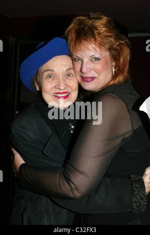 Julie Wilson and Devlin at opening night of 'Devlin The Places You Find Love' at Don't Tell Mama Cabaret New York - Stock Photo