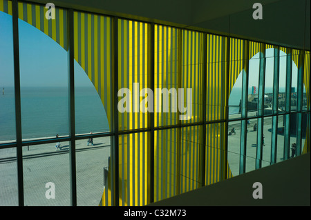 A view out to sea from the  new Turner Contemporary  Art Gallery  in Margate . Architect  David Chipperfield - Stock Photo