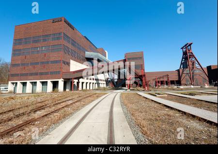 External view of cormer coal mine at Zollverein in Essen Germany now UNESCO World Heritage site - Stock Photo