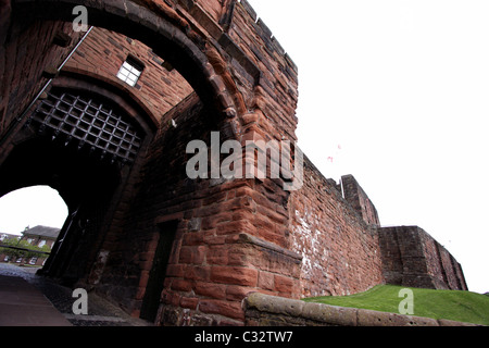Carlisle Castle medieval fortress in Cumbria - Stock Photo