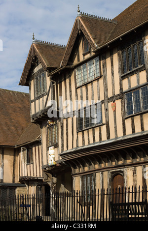The Historic Lord Leycester hospital in Warwick - Stock Photo