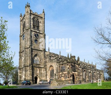The Priory Church of St Mary next to the Castle, Lancaster, Lancashire, UK - Stock Photo