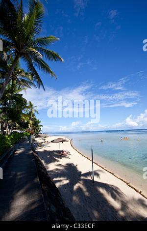 Outrigger on the Lagoon, Coral Coast, Viti Levu, Fiji - Stock Photo