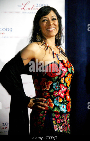 Lila Downs 2009 Latino Inaugural Gala at Union Station - Arrivals  Washington DC, USA - 18.01.09 - Stock Photo