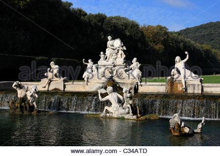 royal palace of caserta, campania, italy - Stock Photo