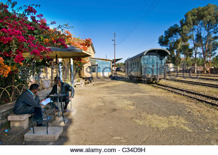 Eritrean railways, From Asmara to Massawa, Eritrea - Stock Photo