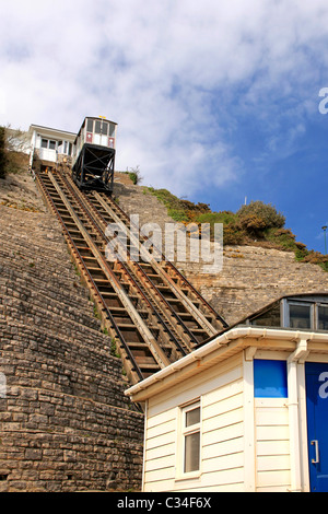 Bournemouth's Incline railway on the cliffes - Stock Photo