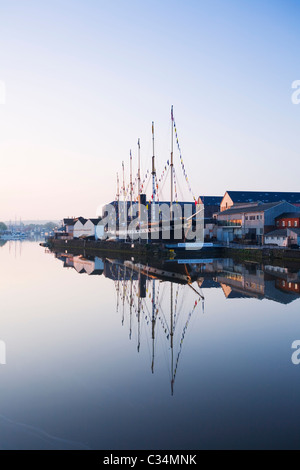 Bristol Floating Harbour and the SS Great Britain. Bristol. England. UK. - Stock Photo