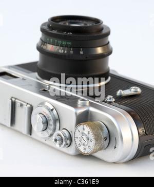 Zorki 4 35mm film camera - Stock Photo