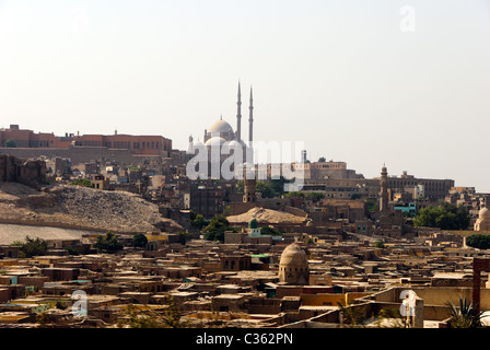 Muhammad Ali Mosque from the City of Dead - Cairo, Lower Egypt - Stock Photo