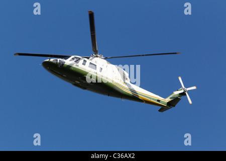 Air Harrods Sikorsky S-76C Spirit in flight - Stock Photo