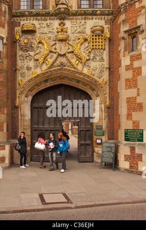 St John's College in Cambridge , Cambridgeshire , England , Britain , Uk - Stock Photo