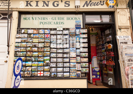 King's News newsagents shop store in Cambridge , Cambridgeshire , England , Britain , Uk - Stock Photo