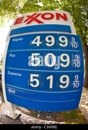 Exxon gas station price sign - USA Stock Photo: 78734911 ...