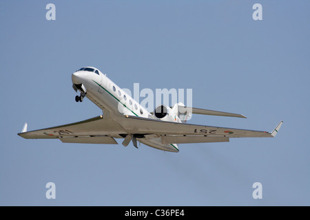 Irish Air Corps Gulfstream IV executive jet plane, used in an official VIP transport role, on takeoff - Stock Photo
