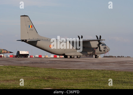 Alenia C-27J Spartan light cargo plane of the Romanian Air Force - Stock Photo