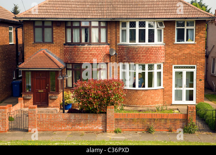 1930s semi detached house ipswich suffolk uk stock photo for 1930s bay window construction