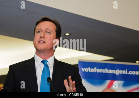 David Cameron visits the Ulster Unionist Party, Belfast, May 2010