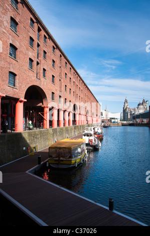Albert Dock in Liverpool, England. - Stock Photo