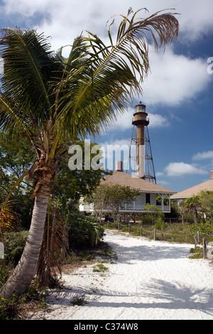 Sanibel Island Lighthouse - Sanibel Island, Florida - Stock Photo