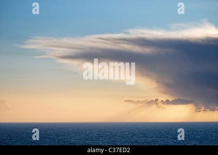 Cumulonimbus cloud over the Atlantic Ocean. - Stock Photo
