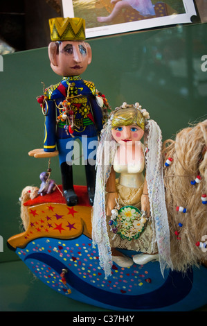 London, U.K., Prince Charles and Lady Diana Dolls on Display Inside 'London Toy & Model Museum' 'The Royal Wedding - Stock Photo
