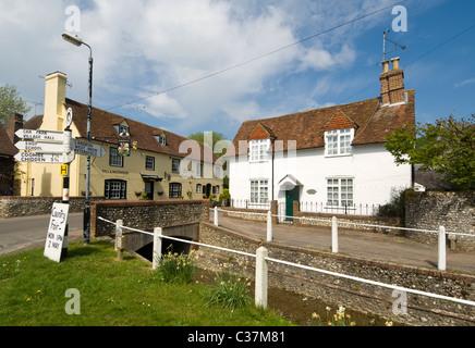 East Meon Meon Valley Hampshire UK - Stock Photo