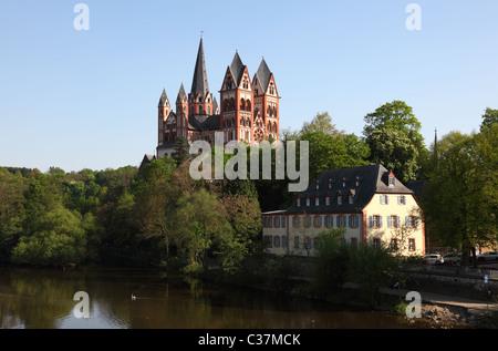 Cathedral in Limburg (Limburger Dom), Hesse Germany - Stock Photo