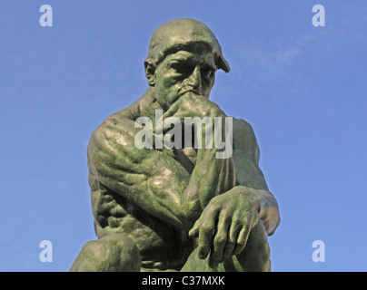 The Thinker by François-Auguste-René Rodin (12 November 1840 – 17 November 1917). - Stock Photo