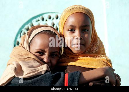 african muslim girls in harar ethiopia - Stock Photo
