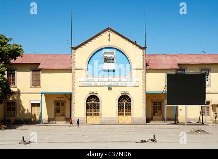 ethiopia to djibouti railway station in dire dawa ethiopia - Stock Photo