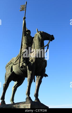 Memorial to Vimara Peres, the Count of Portugal, in Oporto, Portugal. - Stock Photo