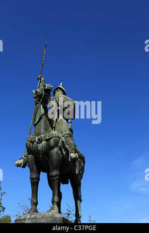 The statue of the Count of Portugal, Vimara Peres (820 - 873), in Porto, Portugal. - Stock Photo