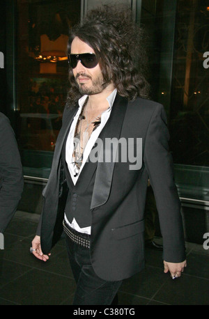 Russell Brand outside Fox studios after appearing on 'The Morning Show with Mike and Juliet' New York City, USA - Stock Photo