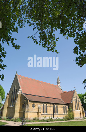 all saints church, putney common, southwest london, england, completed 1874 by architect g.e. street - Stock Photo