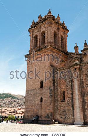 Cusco Cathedral on Plaza de Armas, Cusco, Peru. - Stock Photo