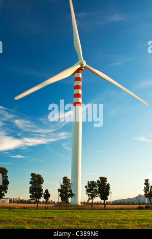 Wind Wheels, Capoterra, Cagliari Province, Sardinia, Italy - Stock Photo