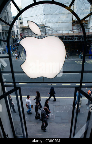 The entrance to the Apple Store on Regent Street. - Stock Photo