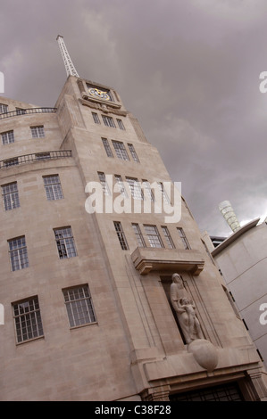 BBC Broadcasting House in London. - Stock Photo