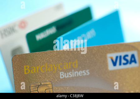 Barclaycard gold visa credit card issued in the uk stock photo a barclays business visa credit card stock photo reheart Images