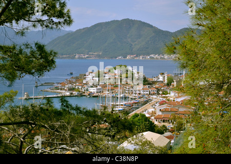 Marmaris Old Town and Harbour, Mugla, Turkey - Stock Photo